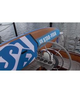 iSUP Azul en barco.