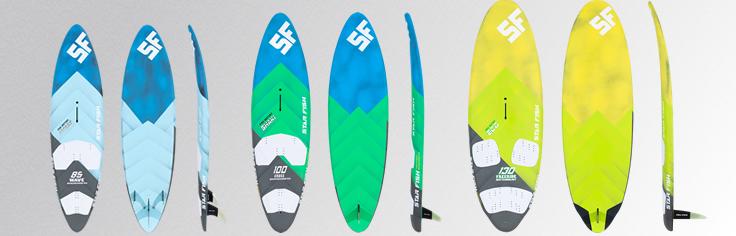 Tablas de windsurf, velas, mastiles, botavaras, extensores y bases